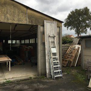 Oude hangar Melkhuisje met ladders blog verbinden met je hart